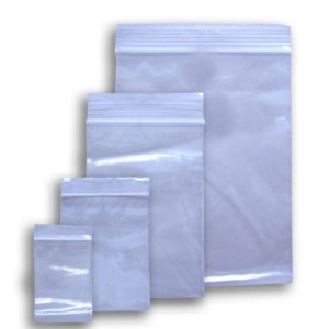 "Poly Zip Lock Bag 5"" x 8"" x 2mil PK/100"