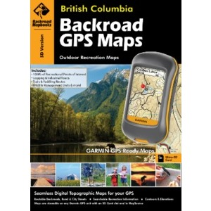 BACKROAD GPS Map SD Card (All British Columbia)