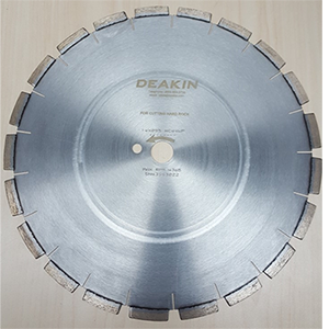 "Core Cutting Blade HC44 10"" Segmented premium 5/8"" Bore for Hard Rock"
