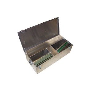"ALUMINUM Office Box 10""x16""x37"" with Roll Compartment"