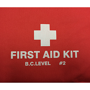 BC LEVEL 2 First Aid Kit Hard Carrying Case