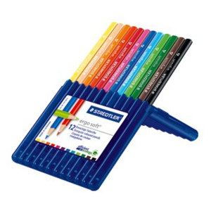 STAEDTLER 157-SB12 Ergosoft Coloured Pencils 12/Pack