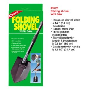 COGHLAN'S 9725 Folding Shovel w/Saw