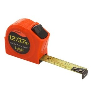 LUFKIN PHV1034DM Hi-Viz 12' / 3.7m Measuring Tape (1/10's ft.)