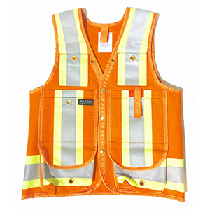 "DEAKIN Cotton 4"" Reflective Cruiser Vest"