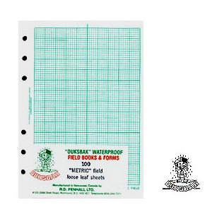 "DUKSBAK Waterproof Field Sheets 4"" x 6 1/2"""