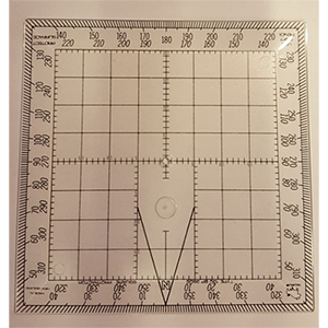 "Douglas 5"" Square Navigational Protractor"