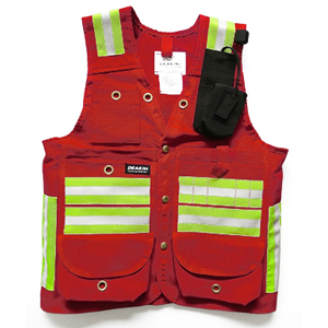 DEAKIN Cotton Canvas Reflective Cruiser Vest c/w Radio Pocket