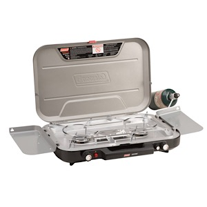 COLEMAN Even Temp 3-Burner Propane Stove with Griddle