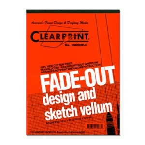 "Vellum CLEARPRINT 1000HP (1mm GRIDDED) 11x17"" 50/Pad"