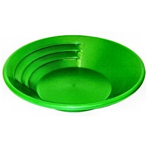 "KEENE SP12 12"" Green Plastic Gold Pan"
