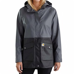 CARHARTT 103615 Womens Waterproof Rainstorm Coat Black