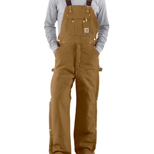 Carhartt R41 Quilt Lined Zip To Thigh Bib Overalls
