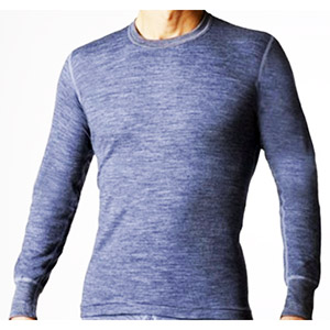 Stanfield's 8813 Merino Wool Long Underwear Shirt Charcoal