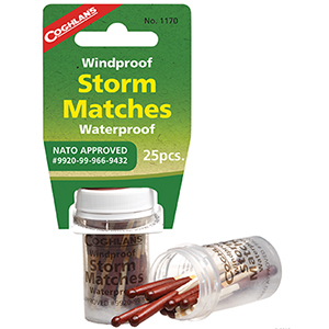 COGHLAN'S 1170 Wind/Waterproof Storm Matches