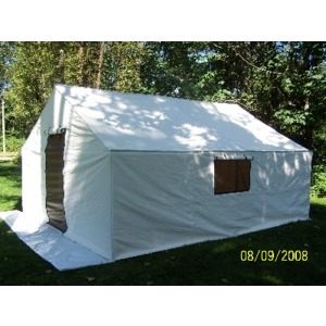 Insulated Canvas Wall Tent 12x14x5 ft C/W Frame