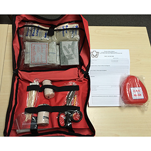 BC LEVEL 1 First Aid Soft Pack W/ CPR mask