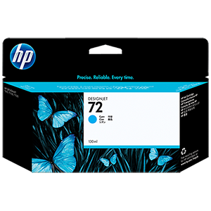 HP 72 130ml Cyan Ink Cartridge C9371A